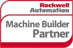 Logo, Rockwell-Automation-Machine-Builder-Partner, Red, White, Grey